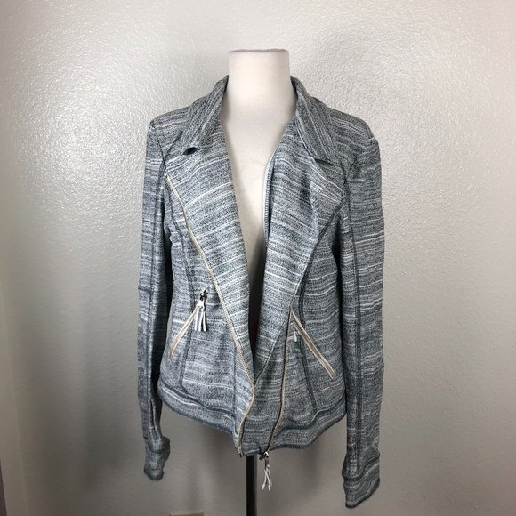 Anthropologie Jackets & Blazers - Anthropologie l Gray Asymmetrical Zip Up Jacket